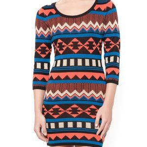 Flying Tomato Graphic Pullover Sweater Dress
